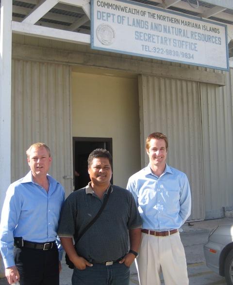 Volunteers meet with  Saipan Public Servant Peter Paul Camacho