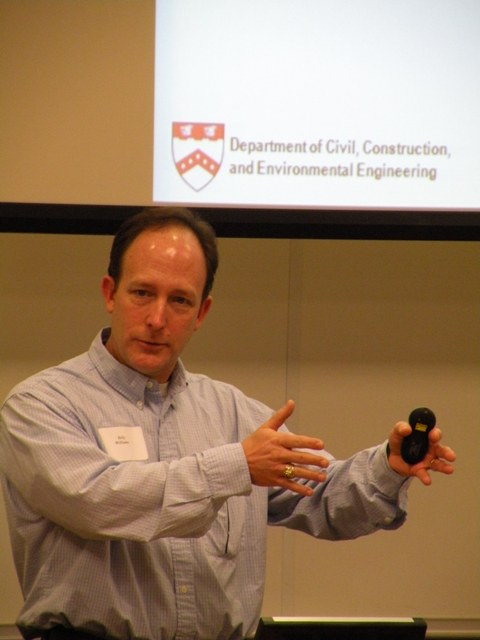 Current NCSU ITRE Director Dr. Billy Williams speaking at previous KnowledgeWell event.