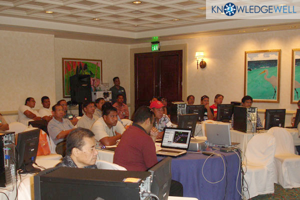 Knowledge Wells first hands-on learning event for Pacific Professionals- Guam Hilton 2005