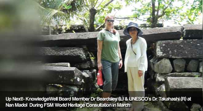 KnowledgeWell Board Member Dr Beardsley(L) & UNESCO Dr.Takahashi(R)