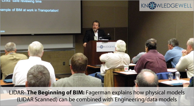 LIDAR- The Beginning of BIM Fagerman explains how physical models(LIDAR Scanned) can be combined with Engineering-data models