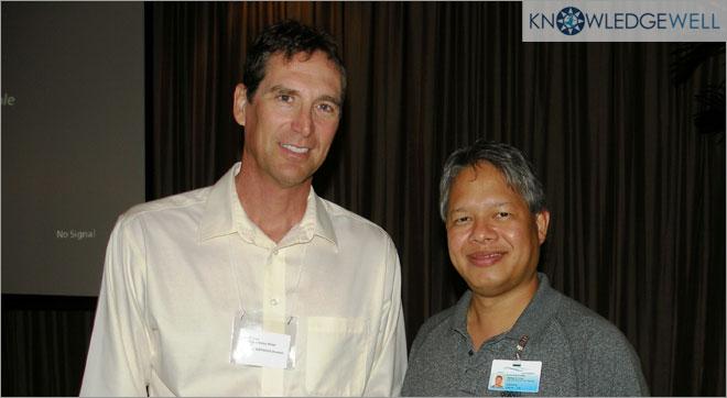 Las Vegas Valley Water & Guam Water GISLIS Leadership Pickus (L) & Toves (R) Discuss BIM