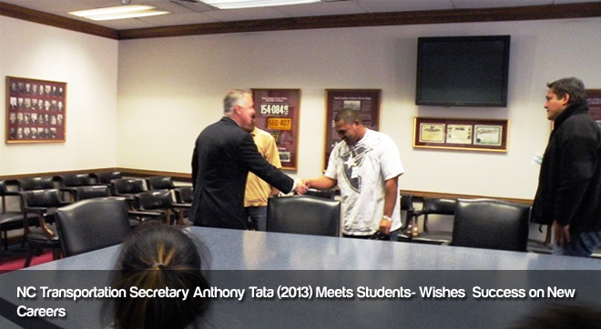 NC Transportation Secretary Anthony Tata Congratulates Students
