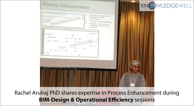 Rachel Arulraj PhD shares expertise in process Enhancement during BIM-Design & Operational Efficiency sessions