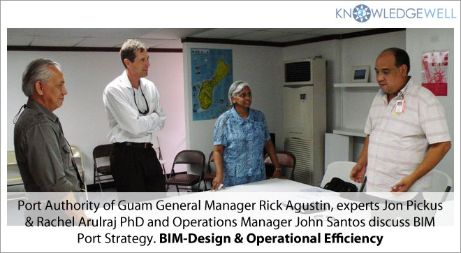 port Authority of Guam General manager rick Agustin, experts Jon Pickus & Rachek Arulraj PhD and Operations Manager John Santos discuss BIM Port Strategy. BIM-Design & Operational Efficiency