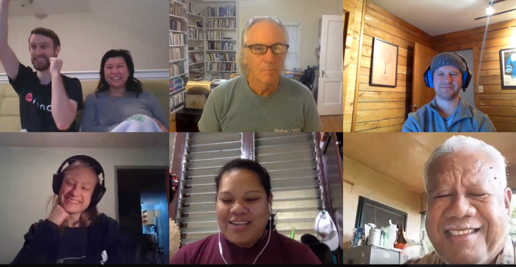 Members of the KnowledgeWell's Shared Volunteer Experience Team Meet Jan 2021 for First Year Anniversary